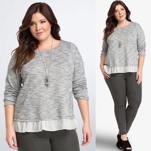 Torrid Knit Ruffle Hem Sweater Womens Plus 1X